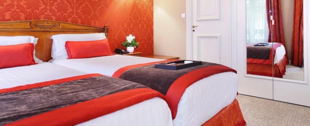 CHAMBRE TWIN HOTEL DE SEINE PARIS